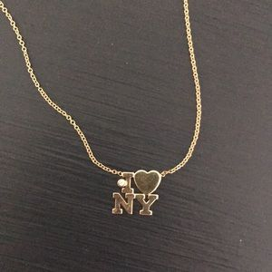 "Zoe Chicco ""I ❤️ NY"" 14k gold necklace w diamond"